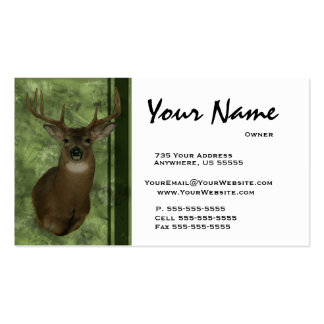 Deer Taxidermy Business Cards ~ Green