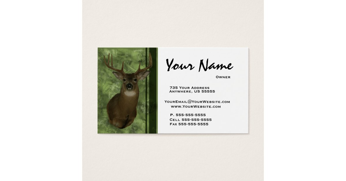 Fantastic Taxidermy Business Cards Contemporary - Business Card ...