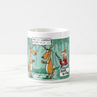 Deer Texting Hunting Cartoon Mug