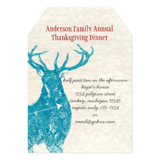 Deer Thanksgiving Dinner Invitation