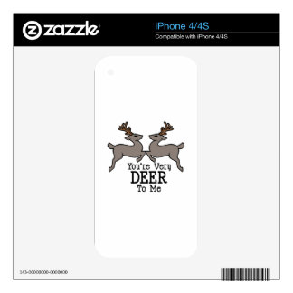 Deer To Me Decals For The iPhone 4S