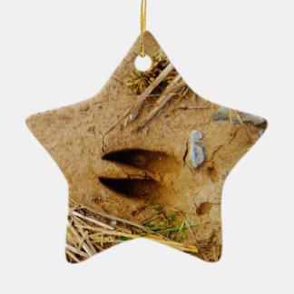 Deer Track Ceramic Ornament