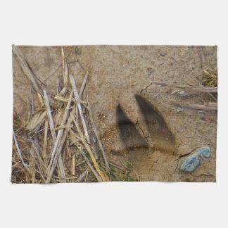 deer track hand towels