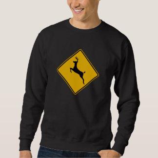 Deer Traffic, Traffic Warning Sign, USA Sweatshirt