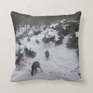 Deer Trail Throw Pillow