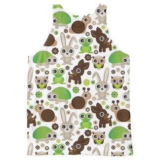 deer turtle bunny animal wallpaper All-Over-Print tank top