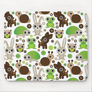 deer turtle bunny animal wallpaper mouse pad