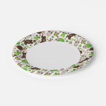 deer turtle bunny animal wallpaper paper plate