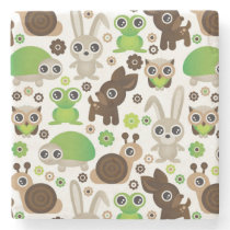deer turtle bunny animal wallpaper stone coaster