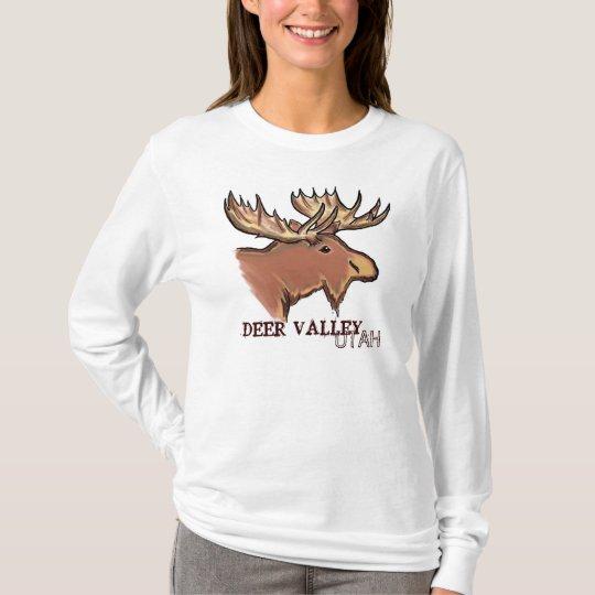 Deer Valley Utah ladies artistic elk hoodie