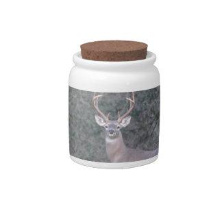 Deer walking on the ranch candy jar