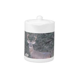 Deer walking on the ranch teapot