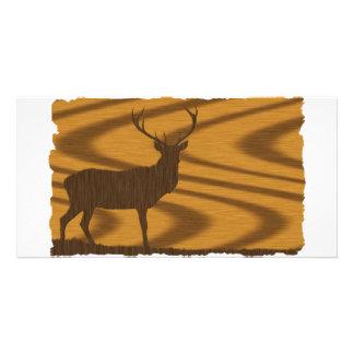 Deer Walnut Photo Card