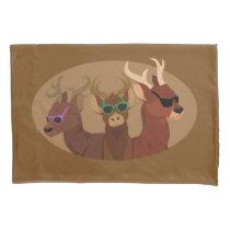 Deer Wearing Sunglasses Pillow Case