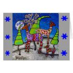 Deer Wearing Sweaters Christmas Card
