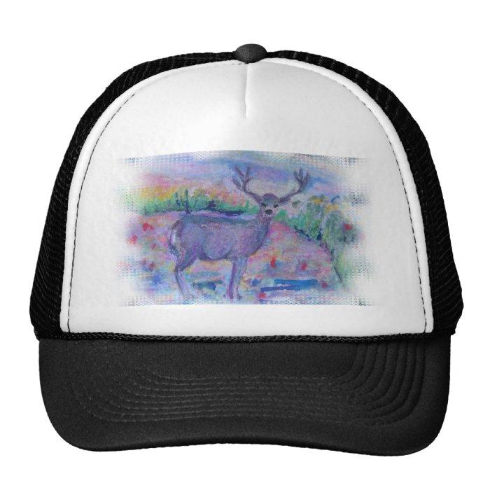 Deer Wild Animal watercolor printed Trucker Hat