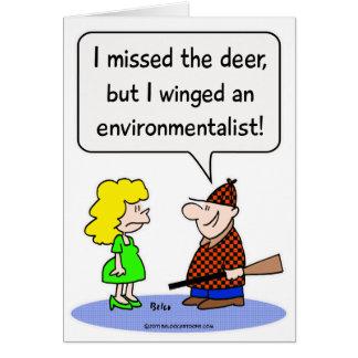 deer winged environmentalist cards