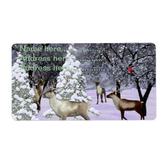 Deer winter gathering labels