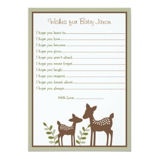 "Deer Wishes for Baby Cards 5"" X 7"" Invitation Card"