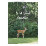 Deer Wishing Grandfather Happy Father's Day Greeting Card