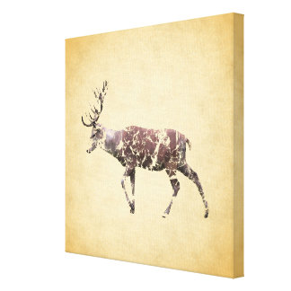 Deer with a Grungy Look Gallery Wrap Canvas