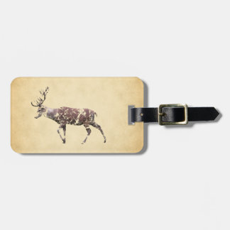 Deer with a Grungy Look Tag For Bags