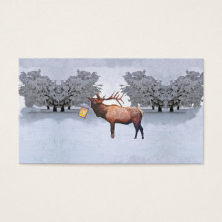 Deer With A Lantern Business Card