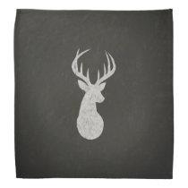 Deer With Antlers Chalk Drawing Bandana