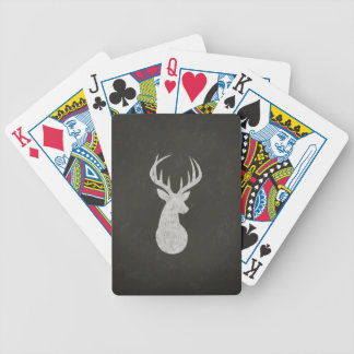 Deer With Antlers Chalk Drawing Bicycle Playing Cards
