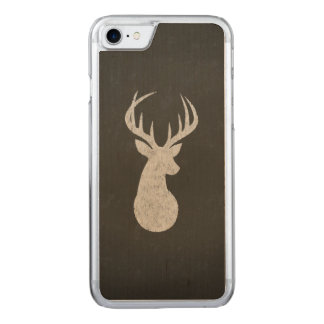 Deer With Antlers Chalk Drawing Carved iPhone 8/7 Case