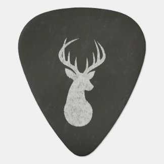 Deer With Antlers Chalk Drawing Guitar Pick