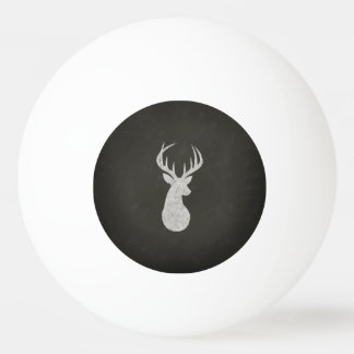 Deer With Antlers Chalk Drawing Ping-Pong Ball