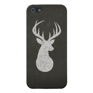 Deer With Antlers Chalk Drawing iPhone SE/5/5s Cover