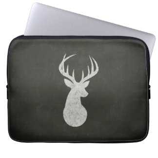 Deer With Antlers Chalk Drawing Laptop Computer Sleeve