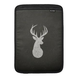 Deer With Antlers Chalk Drawing MacBook Air Sleeve