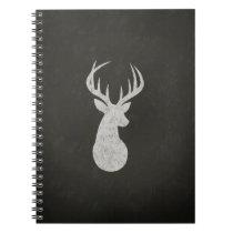 Deer With Antlers Chalk Drawing Notebook