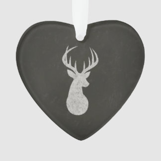 Deer With Antlers Chalk Drawing Ornament