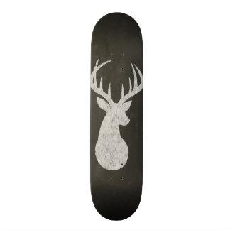 Deer With Antlers Chalk Drawing Skateboard Deck