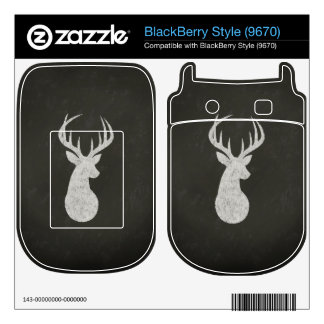 Deer With Antlers Chalk Drawing Skin For BlackBerry Style