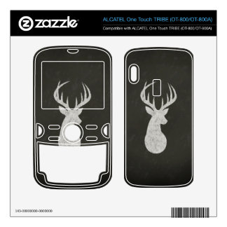 Deer With Antlers Chalk Drawing ALCATEL Tribe Skins