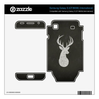 Deer With Antlers Chalk Drawing Samsung Galaxy S Decals
