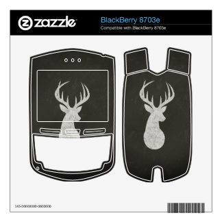 Deer With Antlers Chalk Drawing BlackBerry Decal