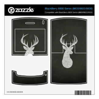 Deer With Antlers Chalk Drawing BlackBerry 8820 Decals
