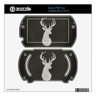 Deer With Antlers Chalk Drawing Skin For The Sony PSP Go