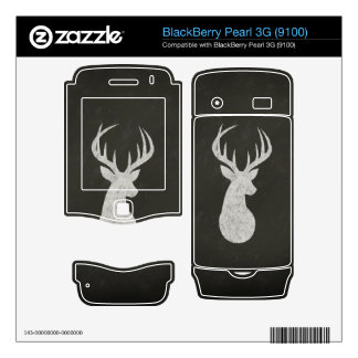 Deer With Antlers Chalk Drawing Skins For BlackBerry