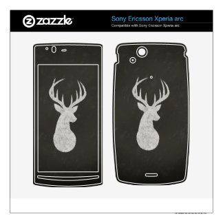 Deer With Antlers Chalk Drawing Xperia Arc Skin