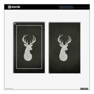 Deer With Antlers Chalk Drawing Decals For Kindle Fire