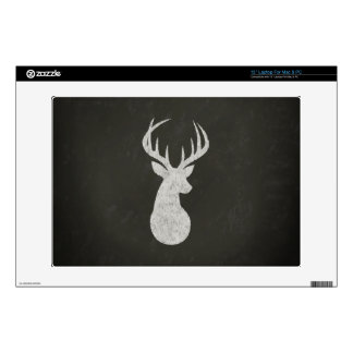Deer With Antlers Chalk Drawing Skins For Laptops