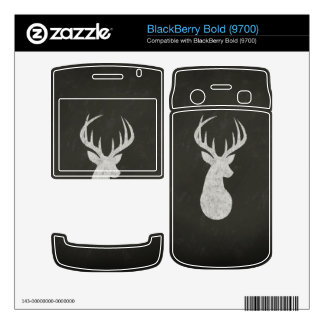 Deer With Antlers Chalk Drawing Decals For BlackBerry