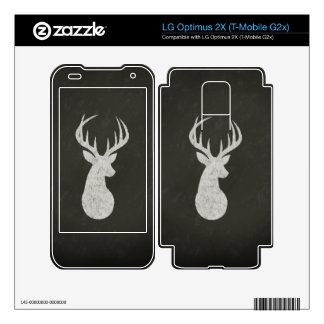 Deer With Antlers Chalk Drawing LG Optimus 2X Decals